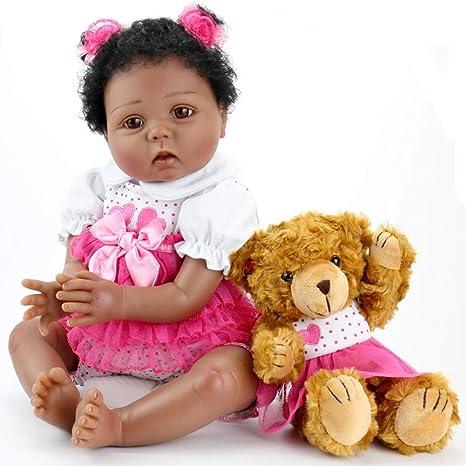 Aori Reborn Baby Doll - Lifelike Weighted Black Doll, 22