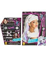 Rubies Monster High Abbey Bominable Wig and Skelita Calaveras Make Up Set