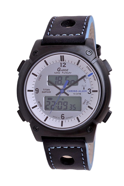 GardÉ (by Ruhla) Uhr Herren Titan Funkuhr Modell Business-Alarm FU 21-16E