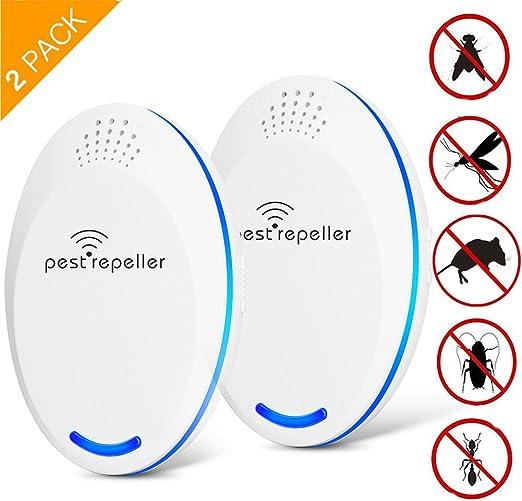 2 Pack Repelente Ultrasónico, Electrónico Repelente Spider ...