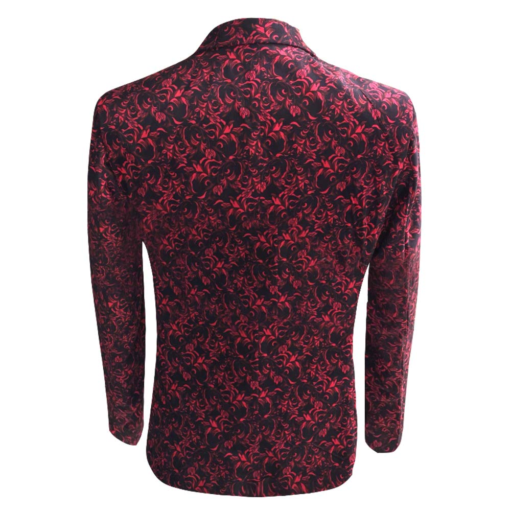 HBDesign Men 1 Piece 2 Button Fashion Printing Pattern Jackets