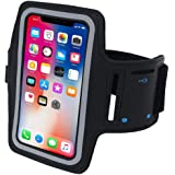 NuSense Resistant armband Fits iPhone Xs Max XR X 8 7 6 6s Plus PORTHOLIC Phone Running Holder Sports Workout Case for…