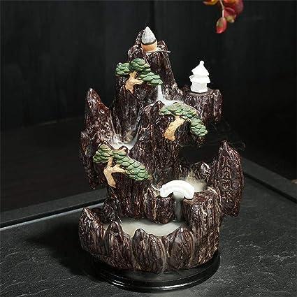 家庭用アロマディフューザー 帰っ樹脂香香炉山の滝アロマ香香炉 (Color : 19×14)