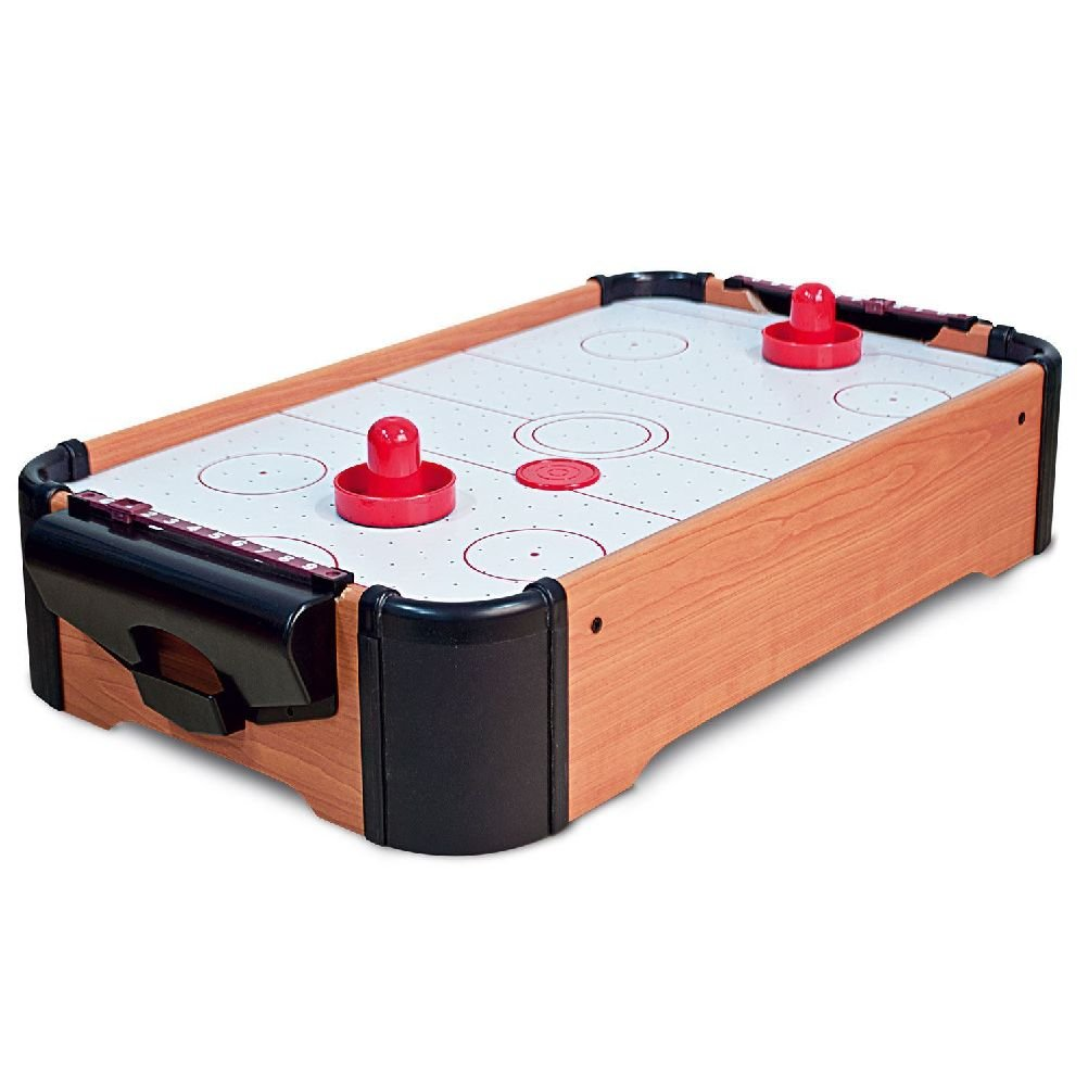 Likimen Home Mini Table Top Air Hockey Game Pushers Pucks Family Xmas Gift Toy Playset