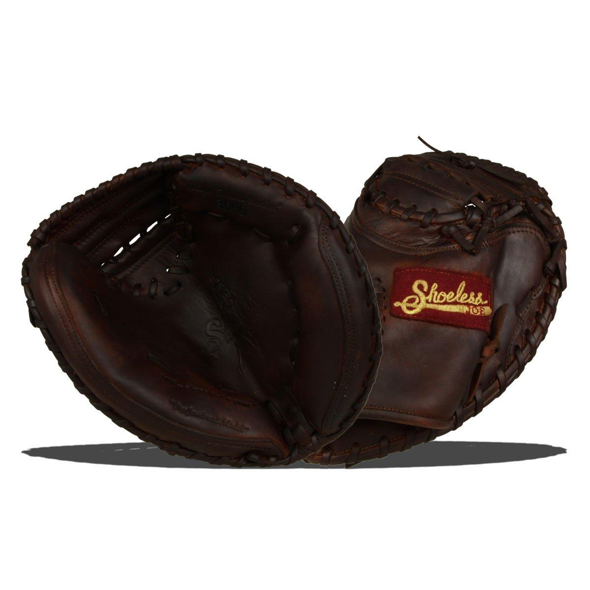 Shoeless Joe Gloves Junior Brown Catchers Mitt, 30-Inch, Right Handed