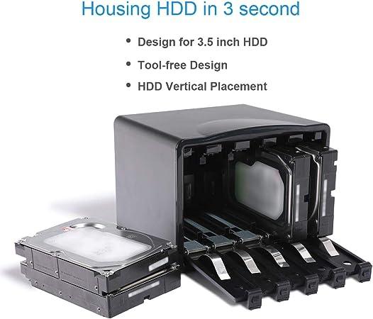 GLOTRENDS PHB35-5 Caja de Disco Duro 5 bahías Unidad de Caja de protección de Disco Duro SATA HDD de 3,5 Pulgadas Herramienta HDD Protector Gratis: Amazon.es: Electrónica