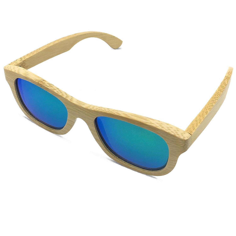 Arctic Penguin Women Vintage Bamboo Polarized Sunglasses Men Wayfarer Eyewear