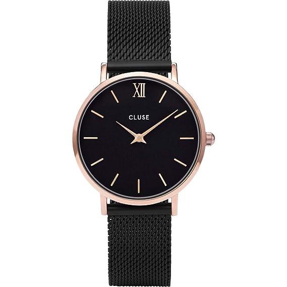 Cluse Reloj Analógico para Mujer de Cuarzo con Correa en Acero Inoxidable CL30064: Amazon.es: Relojes