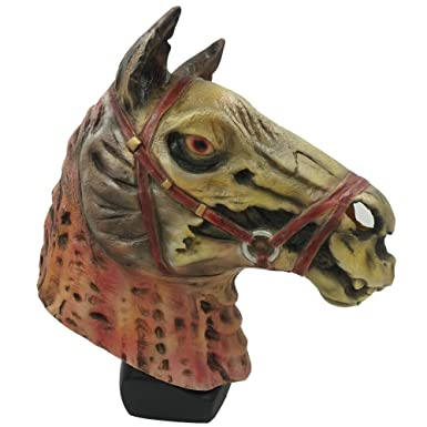 amazoncom zombie horse mask animal party cosplay costume halloween props brown clothing