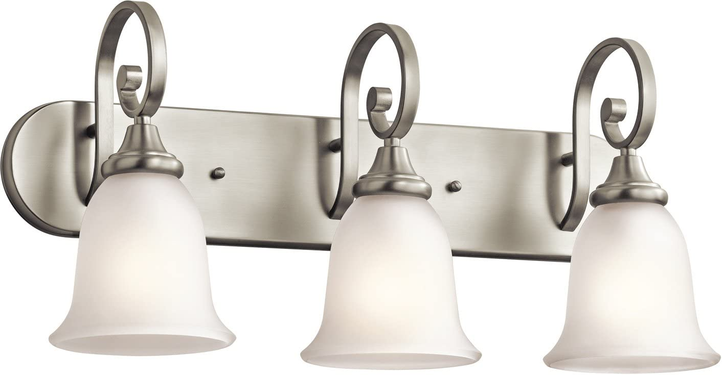 Kichler 45055NI Monroe Bath 3-Light, Brushed Nickel