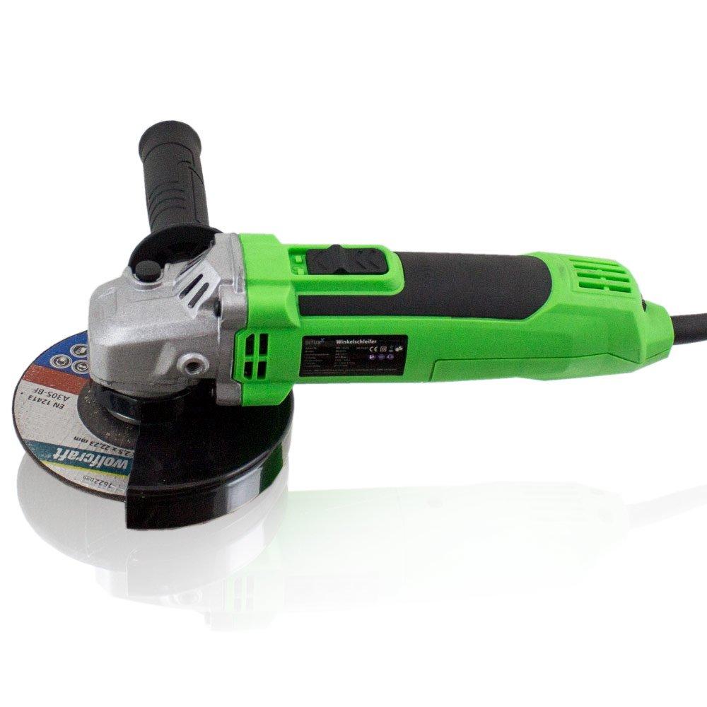 BITUXX/® 650 Watt Winkelschleifer Schleifer Schleifmaschine Trennschleifer Trennj/äger 115//125 mm