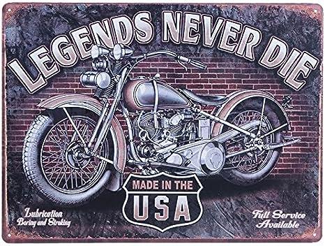 Motorrad Bike Biker Harley DKW Blech Retro Nostalgie Dekoration Geschenk Kult