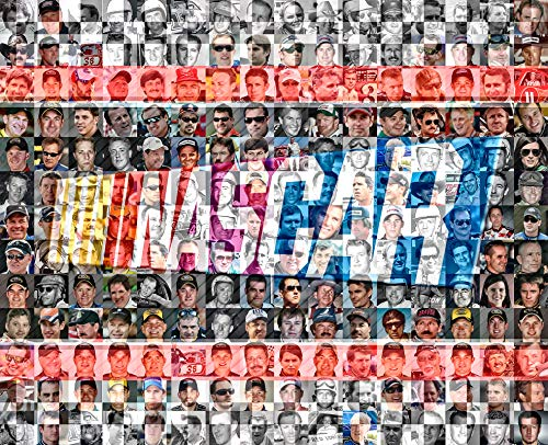 Nascar Mosaic Print Art Designed Using Over 100 of the Greatest Nascar drivers of All Time. 8x10