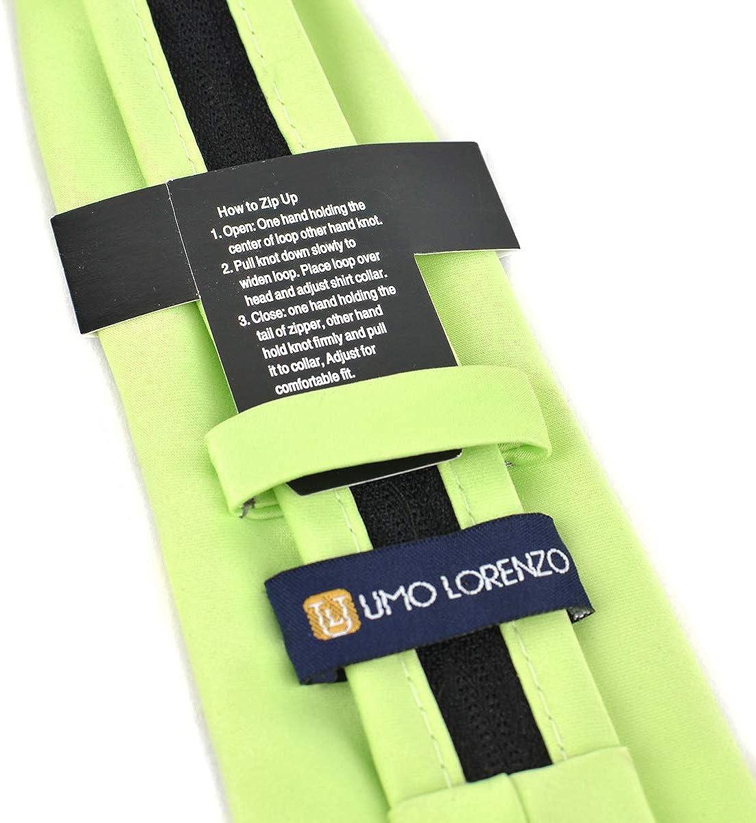BLZ Boy/'s Solid Color Poly Zipper Tie