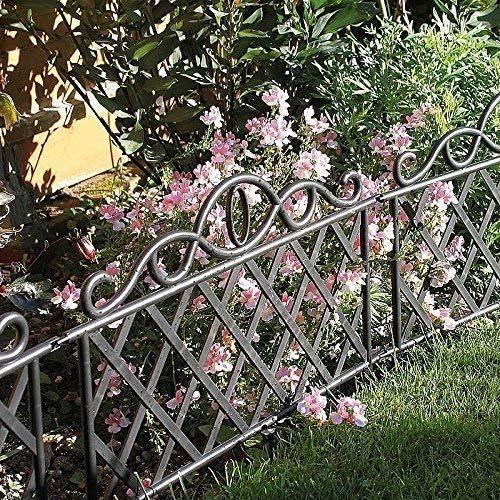 Garden Mile® - Valla decorativa de estilo victoriano para jardín, césped, borde de jardín negro o
