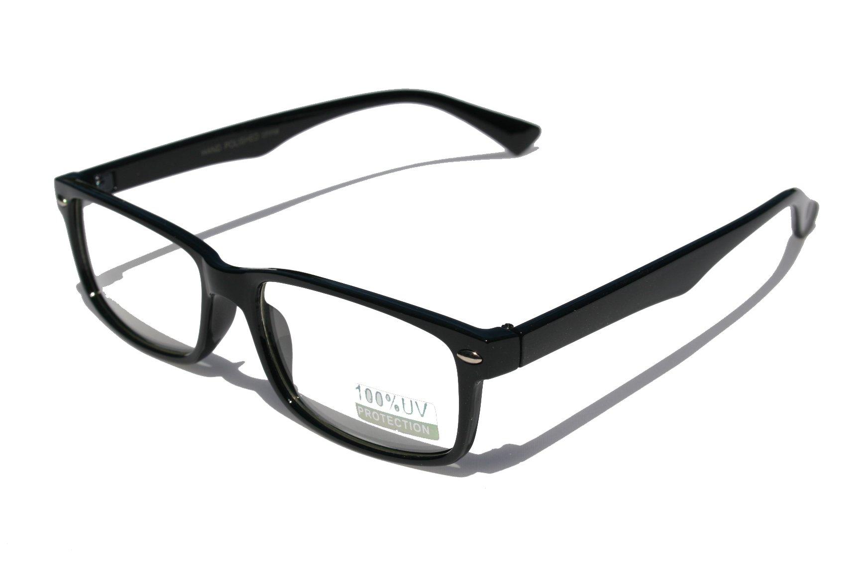 38e653d0919 Casual Fashion Horned Rim Rectangular Frame Clear Lens Eye Glasses (Black)