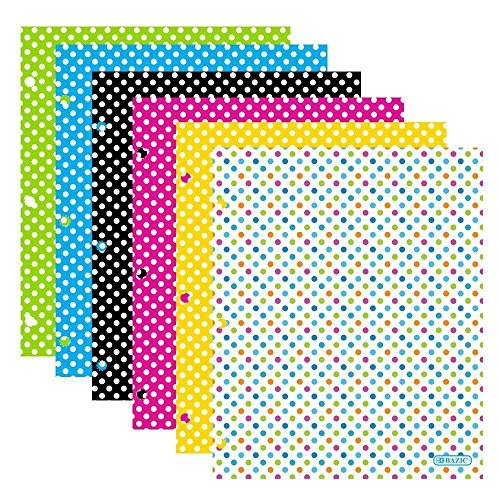 low-cost Bazic Products Bright Colored Glossy Finish Laminated Paisley Design 2 Pocket Portfolios - Set of 4 Folders