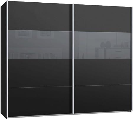 Armario de puertas correderas, armario, aproximadamente 270 cm, antracita, cristal gris, Compra de fábrica, puerta corredera: Amazon.es: Hogar