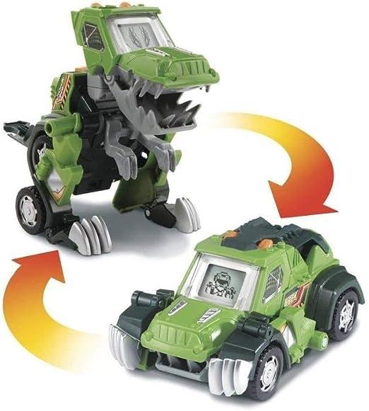 Vtech Switch /& Go Dinos Télécommande Anti-émeute Le T-Rex-Convertit pour voiture de course