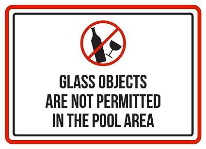 Señal pequeña de advertencia de objetos de cristal no ...