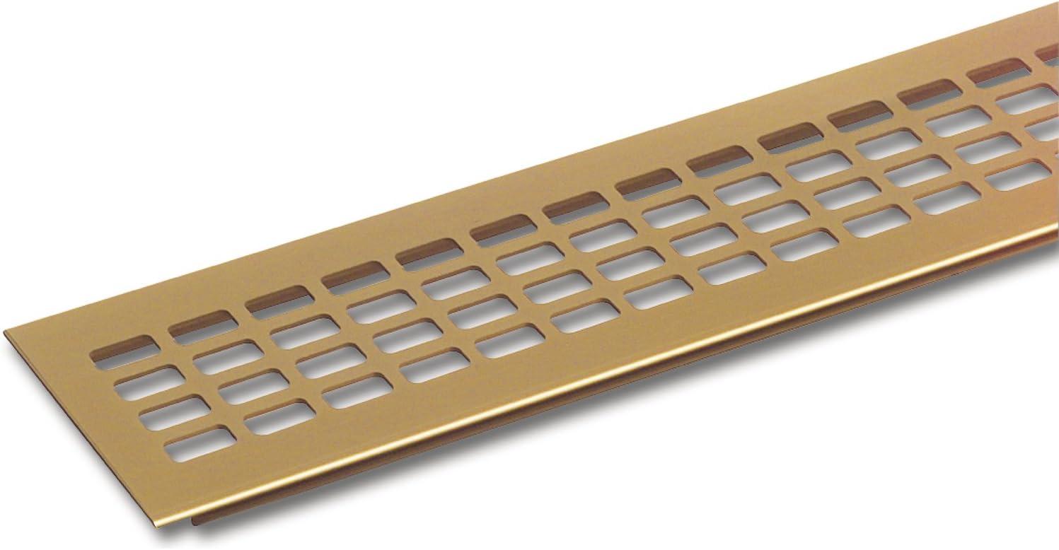 SECOTEC L/üftungsgitter 60 x 400 mm 1 St/ück Oberfl/äche Alu gold eloxiert