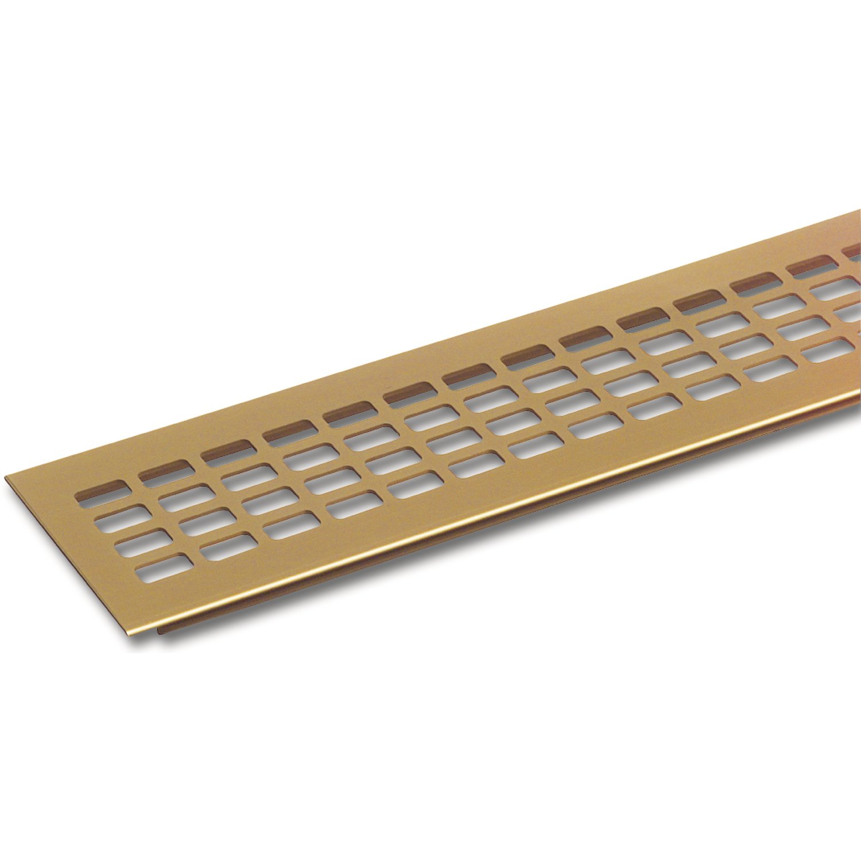 SECOTEC L/üftungsgitter 60 x 400 mm Oberfl/äche: Titan//Edelstahl Effekt 1 St/ück Alu