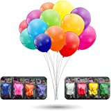 Sol brothers 40 Pack LED Balloons, 8 Mixed Colors Light Up Balloons for Parties Birthdays and Decorations (Flashing)