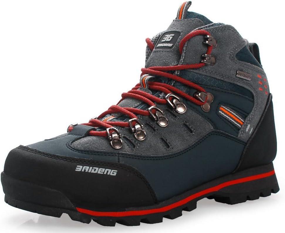 GNEDIAE Scarpe da Trekking Scarpe da Uomo in Pelle di Grandi Dimensioni Trail Sneaker da Campeggio per Camminare all'aperto Scarpe da Viaggio Stivali da Lavoro 40-46