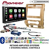 Volunteer Audio Pioneer AVH-2440NEX Double Din Radio Install Kit with Apple CarPlay, Android Auto and Bluetooth Fits 2009-2010 Ford F-150 (Ash Satin)