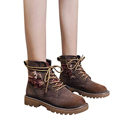 0b8e585a0321b Women Short Boots,Mosstars Girls Classics Retro Wild Ankle Cross ...