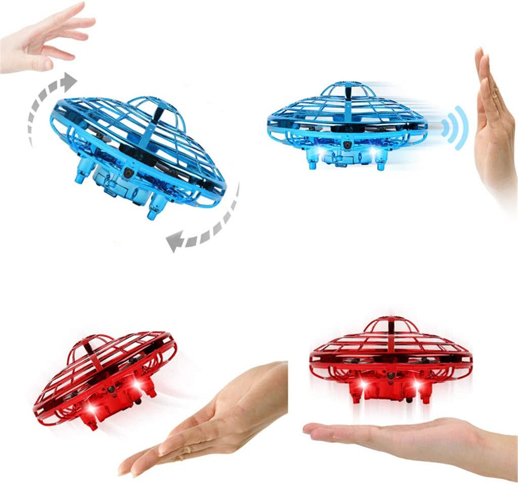 BAIYING Mini Hand Operated Drone Flying Toys with Flashing Led Lights Perfect for Kids Infrared Induction Mini UFO Aircraft