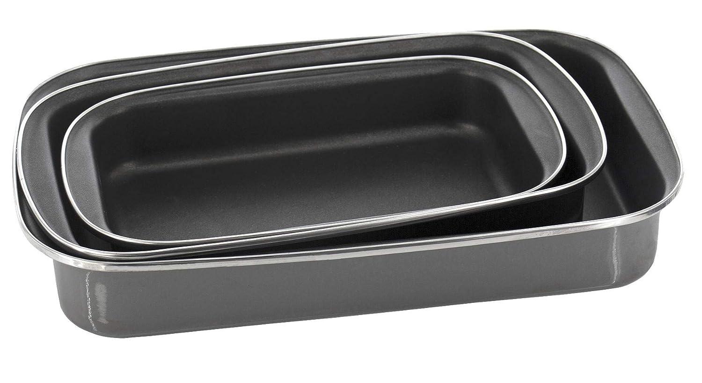 longueur 30 35 40 Cm Lasagnera /à induction torr/éfacteur rectangulaire en acier /émaill/é noir brillant plateau de cuisson avec double rev/êtement antiadh/ésif 30 cm