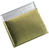 Aviditi GBM1311GD Glamour Bubble Mailer, 11'' Length x 13-3/4'' Width, Gold (Case of 48)