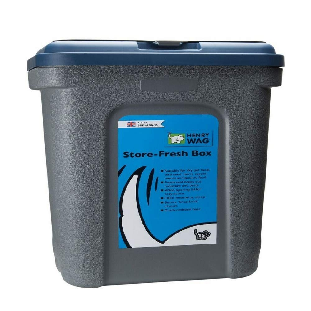 Henry Wag Store Fresh Storage Box (16.5lbs) (Blue/Gray) by Henry Wag