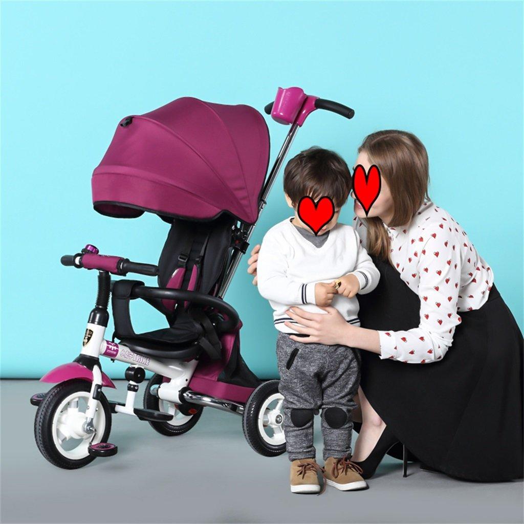 KANGR-子ども用自転車 折りたたみ自転車三輪車の自転車ベビートロリーの子供の自転車のベビーカー ( 色 : パープル ぱ゜ぷる ) B07BTWVYCCパープル ぱ゜ぷる