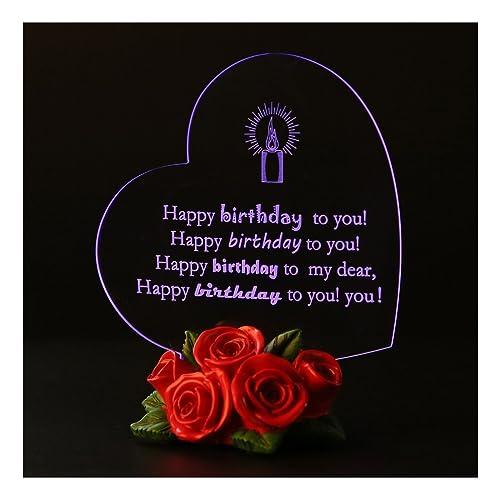 Giftgarden LED Light Up Happy Birthday Gifts For Women Men Kids Children Boys Girls Her Him