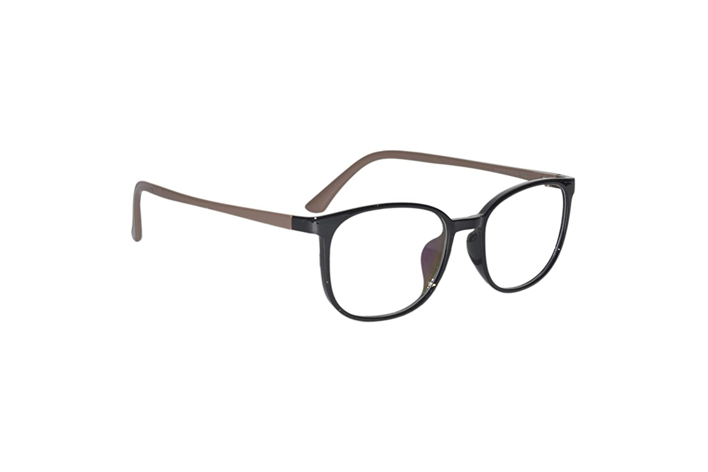 Peter Jones Black And Brown Square Unisex Optical Frame 61