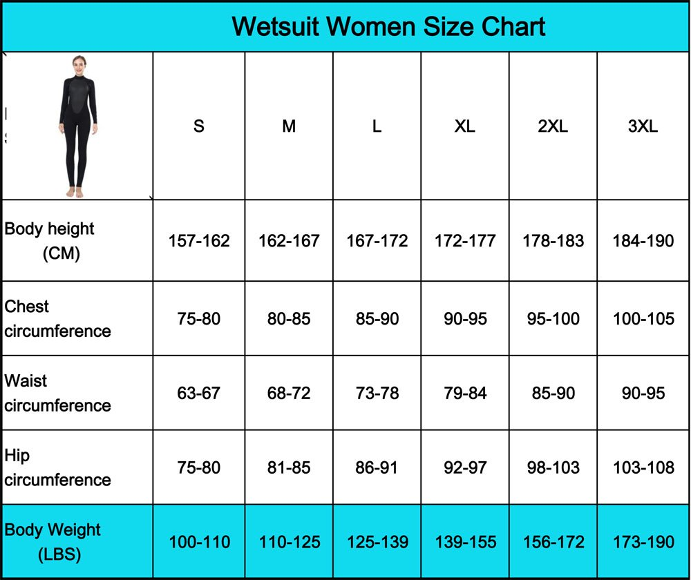 Realon Womens Wetsuit Full 3mm Neoprene Surfing Scuba Diving Snorkeling Swimming Suit (Black 3mm, M) by Realon (Image #2)