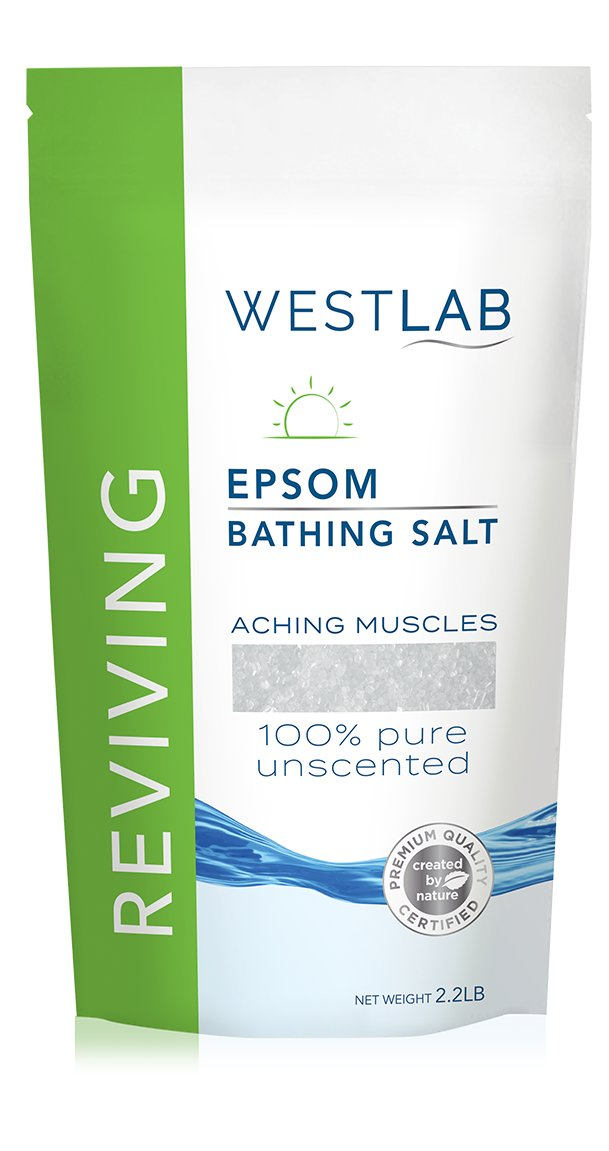 2 x 2.2lb (4.4lbs) Epsom Salt (unscented)
