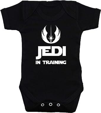 Jedi in Training body para bebé/bebé/camiseta/chaleco Star Wars negro 0 A 12 meses