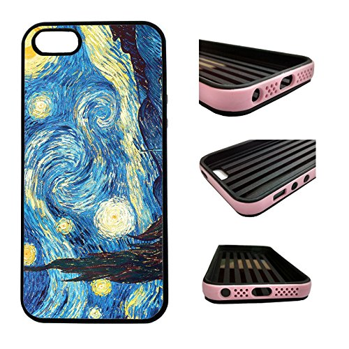 CorpCase iPhone SE / 5 / 5S / 5SE Case - Starry night/ Hybrid ULTRA Protective iphone 5/5S/5SE Case With Great Style - Features Unique 2-in-1 Hybrid protection with TPU+Plastic