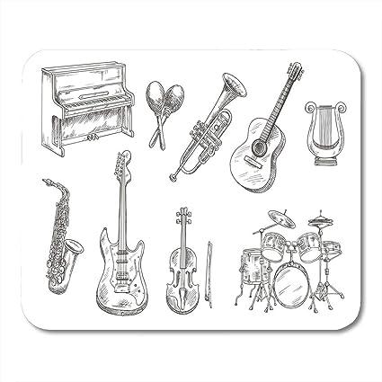 Almohadillas para mouse Batería y acústico Guitarras acústicas para saxofón de violín Trompeta Almohadilla para mouse para notebooks, computadoras de escritorio esteras Suministros de oficina: Amazon.es: Electrónica