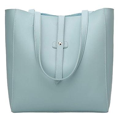 83cad7e4c46f6 TianWlio Frauen Handtasche Mode Mädchen Outdoor Leder Reißverschluss  Volltonfarbe Umhängetasche Handtasche Blau  Amazon.de  Bekleidung