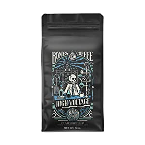 Bones Coffee Company High Voltage Coffee - Highly Caffeinated (Ground Coffee)