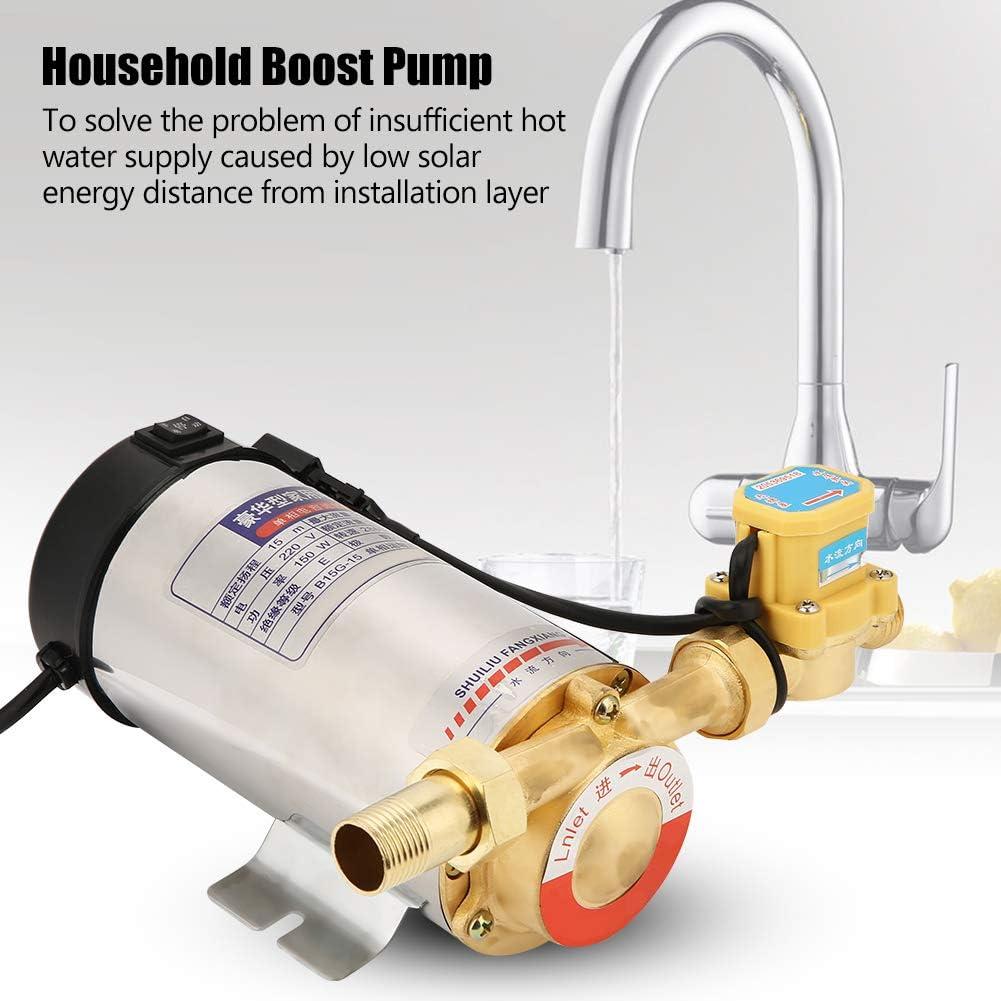 220 V 150 W bomba de agua de impulso autom/ático lavadora de ducha dom/éstica CN enchufe carcasa de acero inoxidable para grifo de tuber/ía de agua
