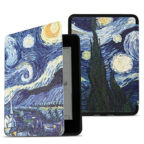 JAMfit Slim shell Case for All-new Kindle Paperwhite (10th Generation-2018 Only - Will Not fit Prior Generation Kindle Devices) (Starry sky)