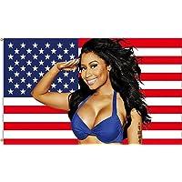 Nic-ki Min-aj American Flag 3x5Ft Outdoor Indoor-Nicki Min-aj Flag USA for Wall-Double Stitched ,Vivid Colors,and Flags…