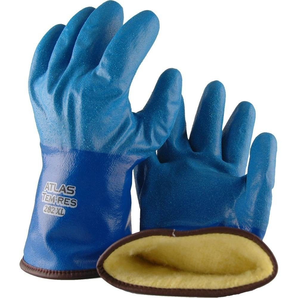 Showa Best 282 Atlas TEMRES Insulated Gloves, Waterproof/Breathable TEMRES Technology, Oil Resistant Rough Textured Coating, Acrylic Insulation, Large (1 Pair)
