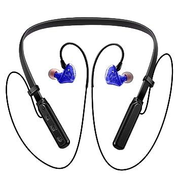 Winwintom Auriculares Bluetooth Inalambricos,Tirilla Auriculares Deportivos, De Volumen para iPhone, Samsung Galaxy