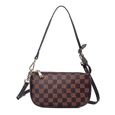 Amazon.com: Gerosse bolsos de pochette a cuadros para mujer ...